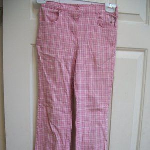Vintage Gymboree Pink Plaid Summer Pants 3XL or 8